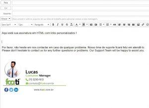 Assinatura personalizada em HTML no Zimbra