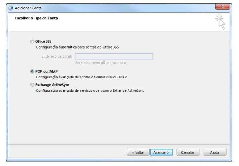 Configurando o E-mail 360 no Outlook