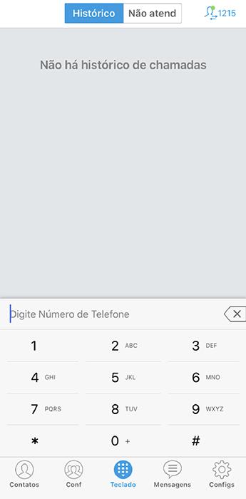 Configurando o ramal no celular (IOS), utilizando GSWave