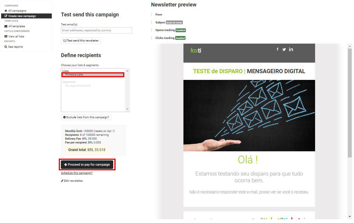Configurar campanhas no Mensageiro Digital